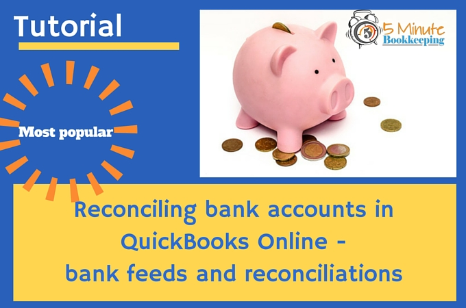 Reconciling accounts in QBO