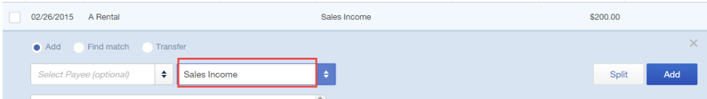Assign income category in quickbooks online