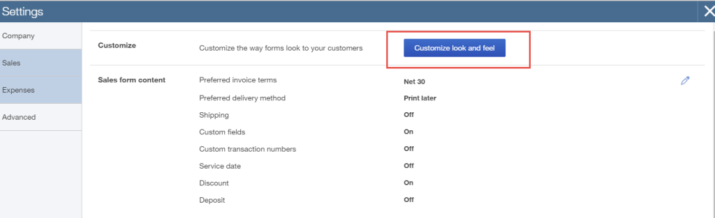 how to customize customer invoices in QuickBooks Online