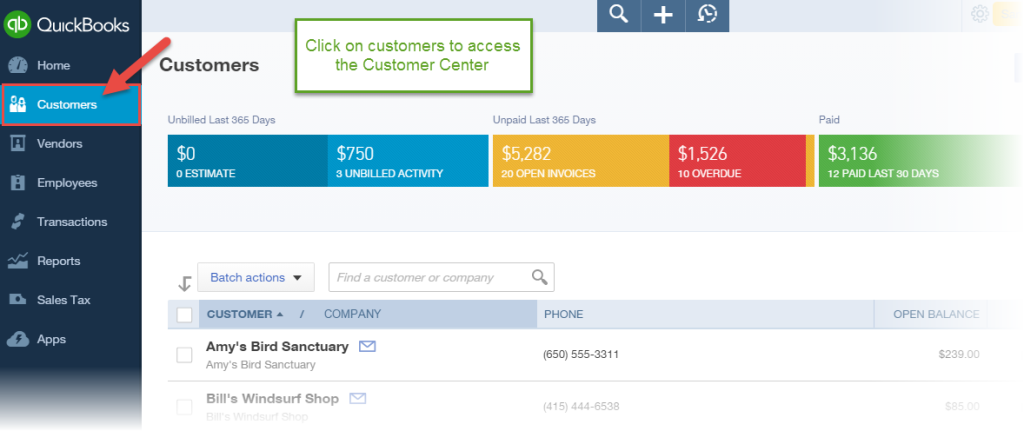 How to add customers in QuickBooks Online