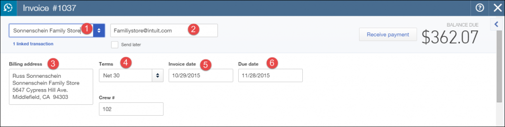 how to create an invoice in quickbooks 2015