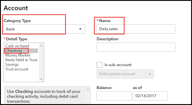 Chart of Accounts in QBO