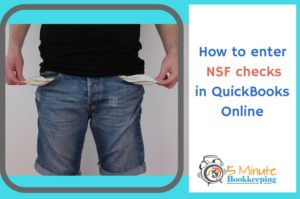 how to enter nsf checks in quickbooks online