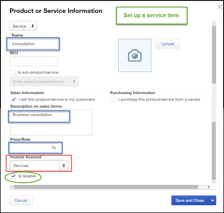 How to Set Up Products and Services List in QBO
