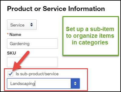 How to set up the products and services list in QuickBooks Online