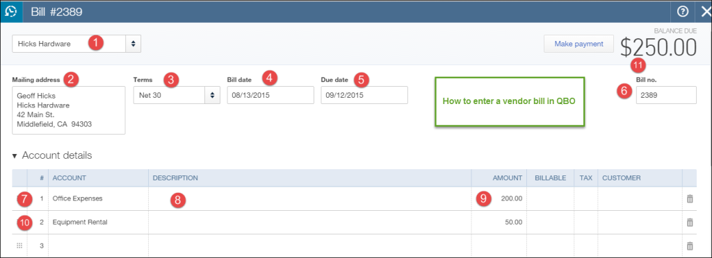 how to pay vendors in quickbooks online