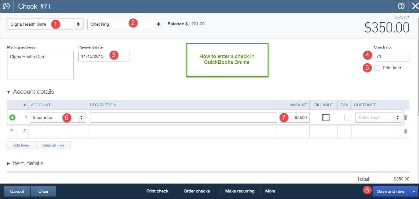 quickbooks online check writing Writing and printing checks from quickbooks 1 set preferences via the top menu edit-preferences this is a one time only step use your own checking account 2 you.