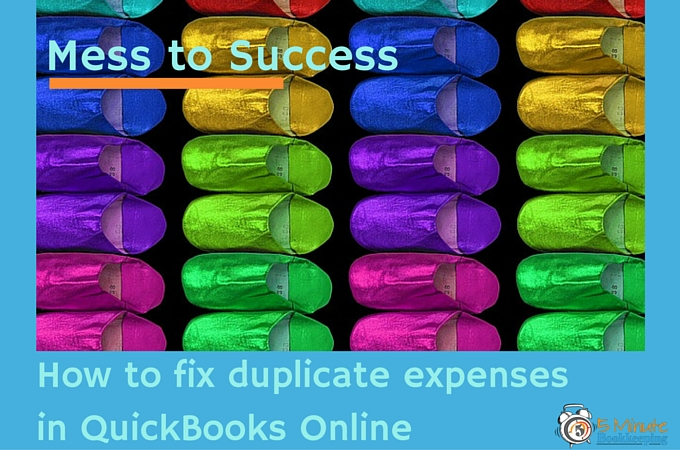 How to fix duplicate expenses in QBO