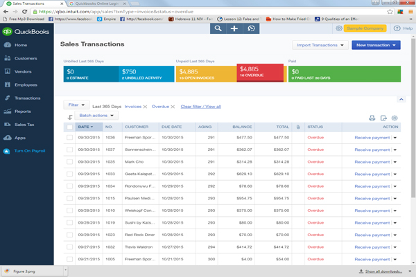 Tricks For Tracking Past Due Customers MinuteBookkeepingcom - Online invoice tracking