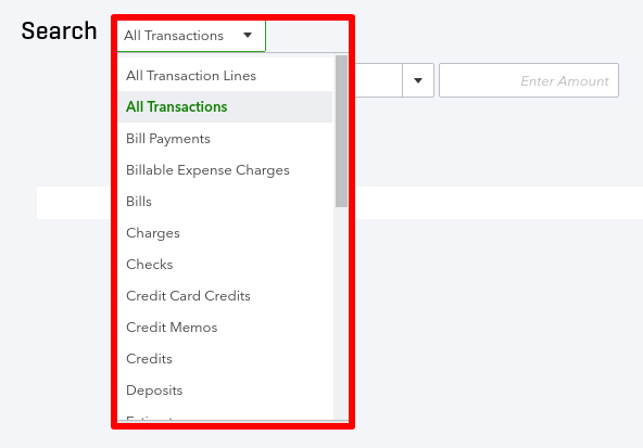 How to find transactions in QuickBooks Online
