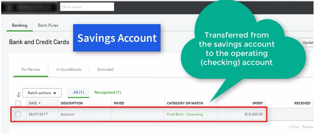How to record bank transfers in QuickBooks Online - 5 Minute Bookkeeping