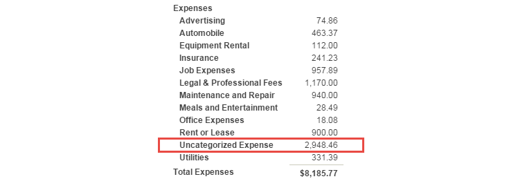 uncategorized income and expense