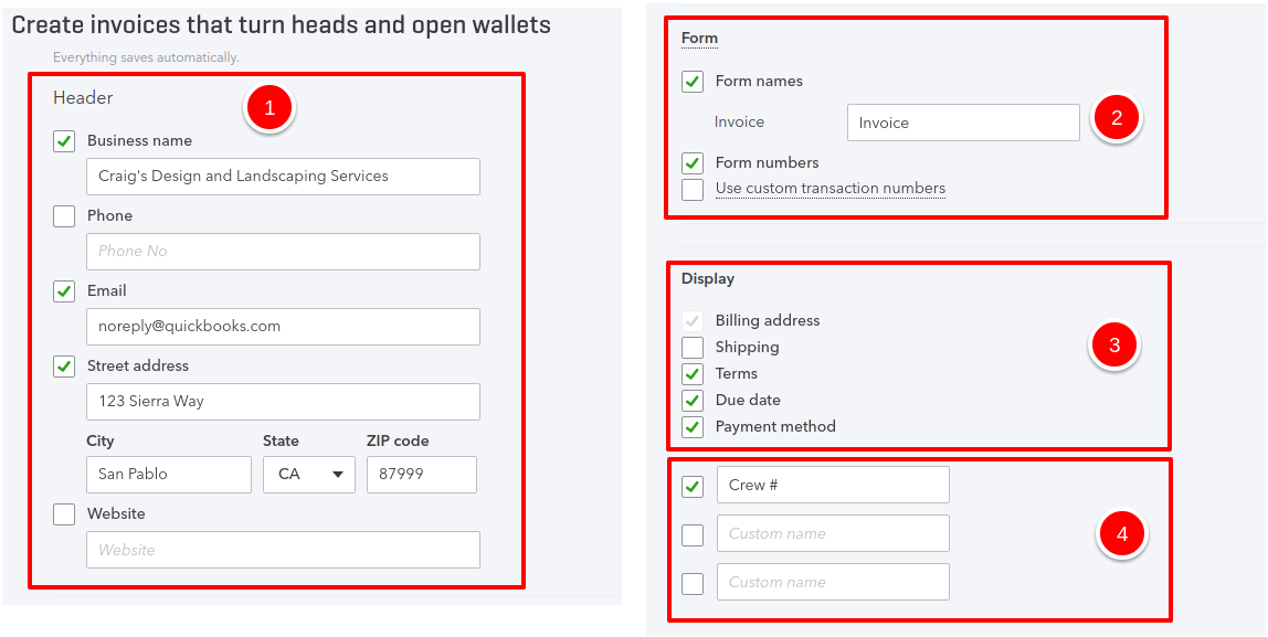 how to customize invoices in quickbooks online 5 minute bookkeeping