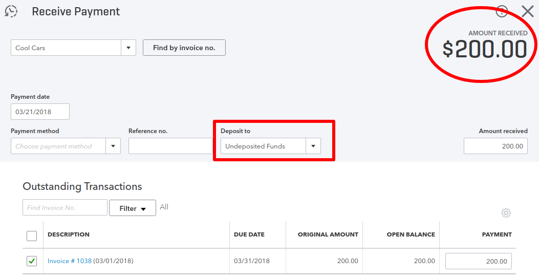 How to clean up Undeposited Funds in QuickBooks Online